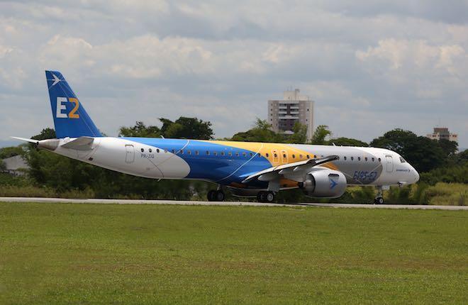 Прошло сертификацию воздушное судно Embraer E-195 E2